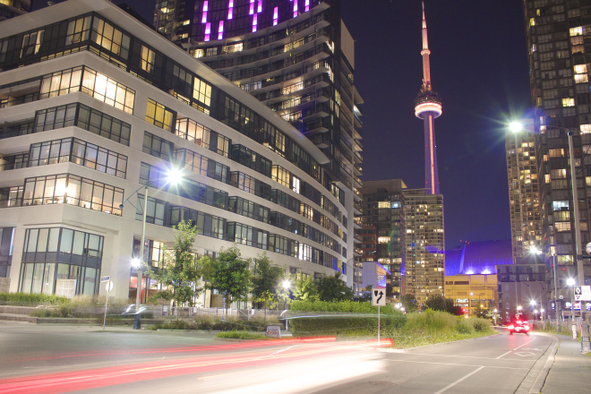 Toronto at Night Photo
