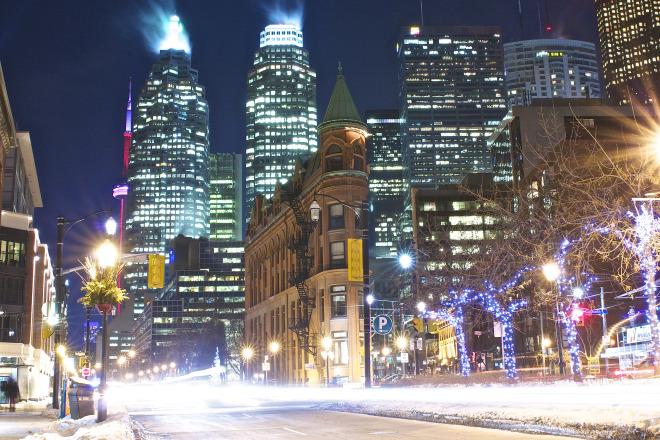 Toronto Flatiron Night Photo